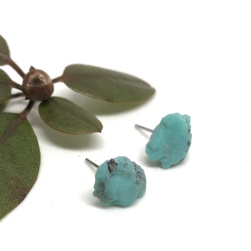 Naked Sage - Raw Turquoise Studs