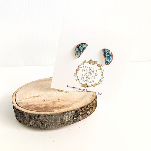 Flora and Forest - Blue Floral Studs