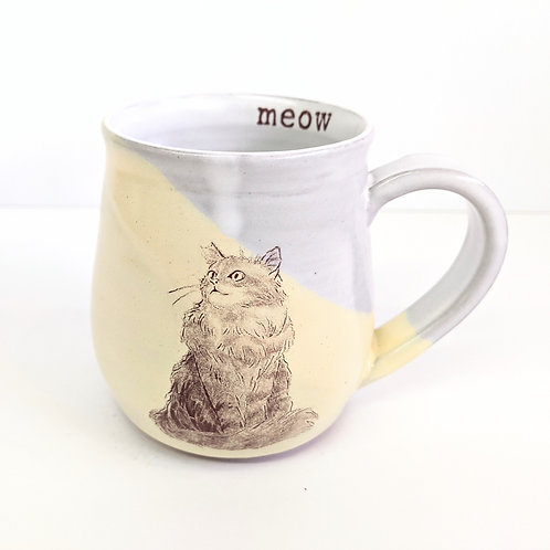 Tiny Cat Pottery - Small Le Chat Mug