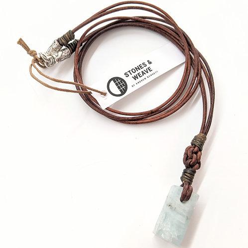 Stones & Weave - Aquamarine Necklace