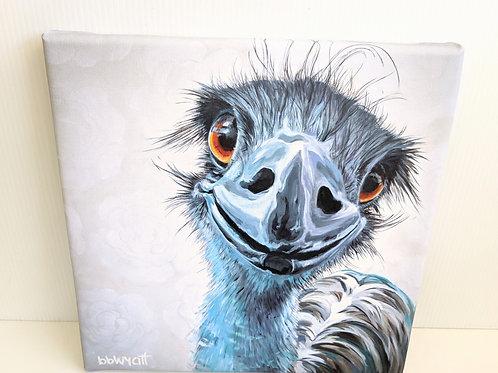 Brandy Wyatt - 'Emma' the Emu Canvas Print