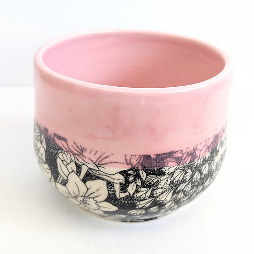 Mowbray Pottery - Pink Floral Pot