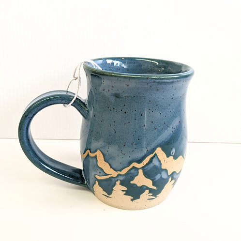 Prairie Willow Pottery - Blue Mountains Mug