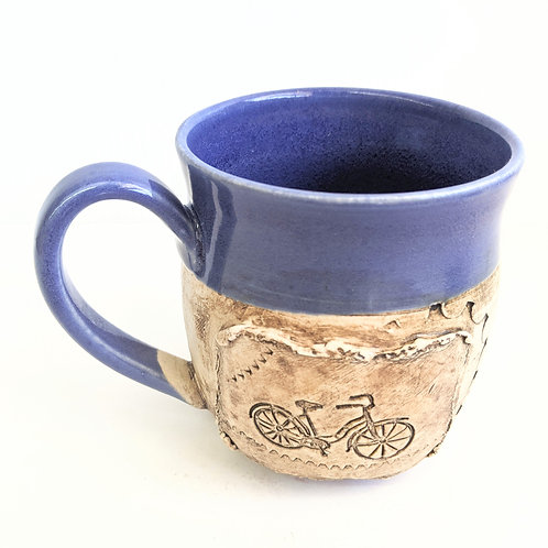 Restless Winds - Blue Bicycle Mug