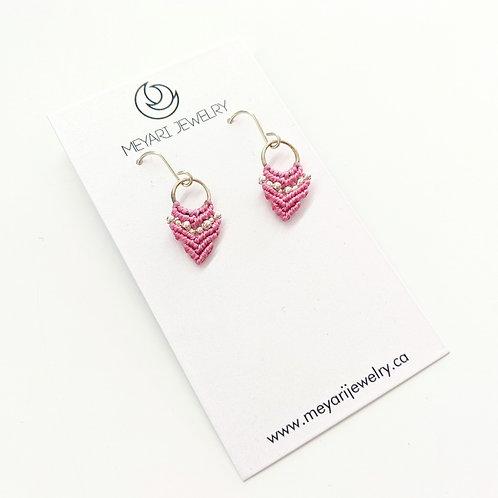 Meyari Jewelry - Sterling Silver Macrame Earrings