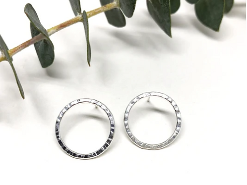 Naked Sage - Silver New Moon Studs