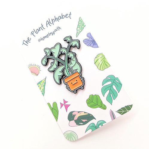Home By Faith - Enamel String of Dolphins Plant Buddy Pin