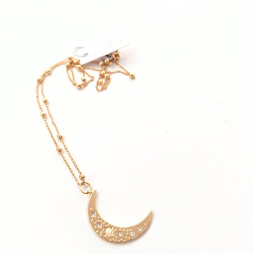 Jewelry By Amanda - Gold Crescent Moon Necklace