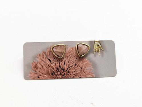 Cat D.esigns - Gold Sunstone Stud Earrings