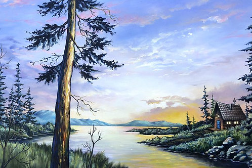 Jolene Mackie - 'Rustic peace' painting
