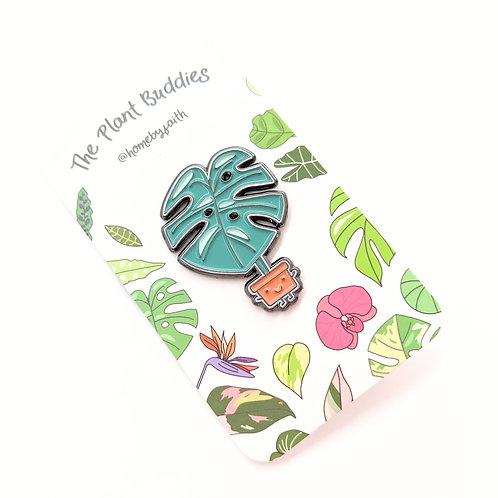 Home By Faith - Enamel Monstera Plant Buddy Pin