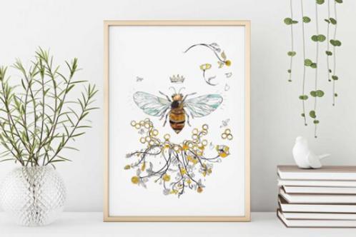Sarah Clement - Queen Bee Print