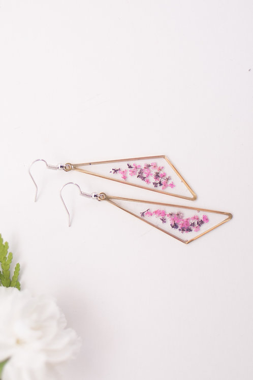 Flora and Forest - Floral Earrings (Pink & Purple)