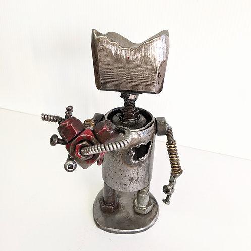 Wingnut Whimsy - Heart Bot Sculpture