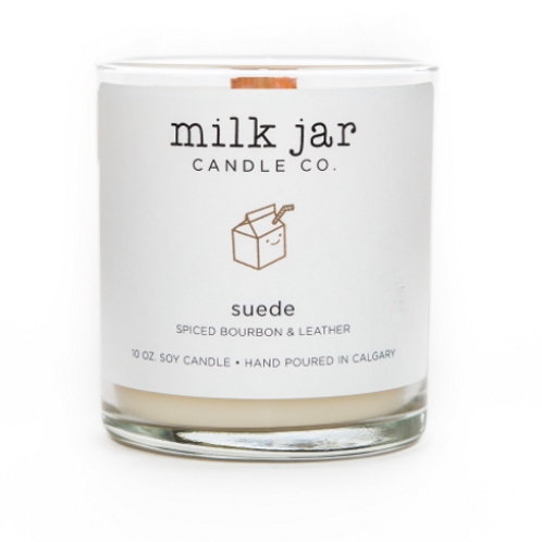 Milk Jar Candle Co. - Suede Candle