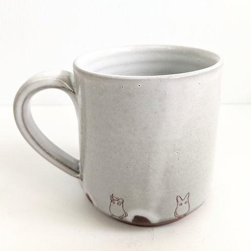 Tiny Cat Pottery - Neutral Totoro Mug