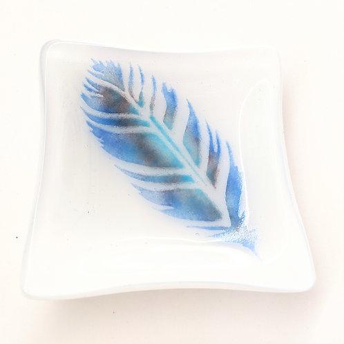 Sheryl Blois Glass - Mini Feather Treasure Tray
