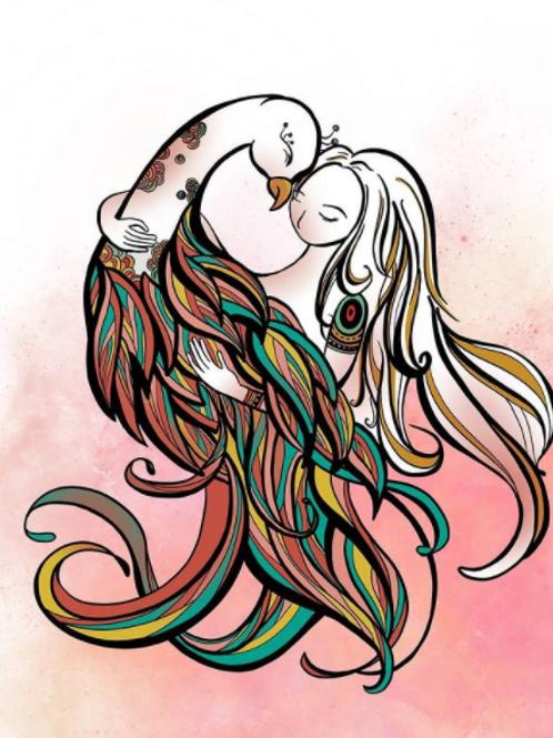 Yiting Creatives - 'The Peacock & I' Art Print