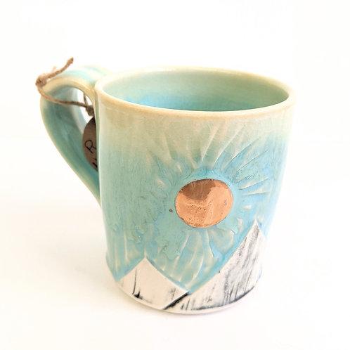 Lisa Martin Pottery - Short Gold Mountain Mug