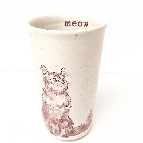 Tiny Cat Pottery - Le Chat Tumbler