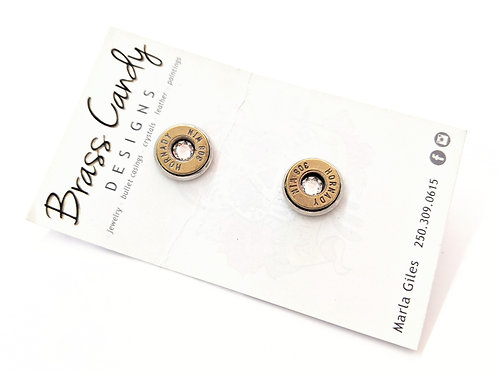 Brass Candy - Clear Bullet Casing Studs