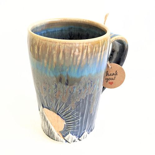 Lisa Martin Pottery - Tall Gold Mountain Mug