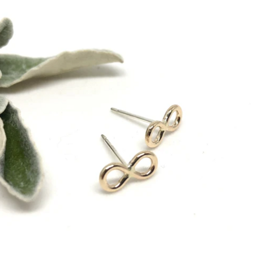 Naked Sage - Gold Infinity Studs