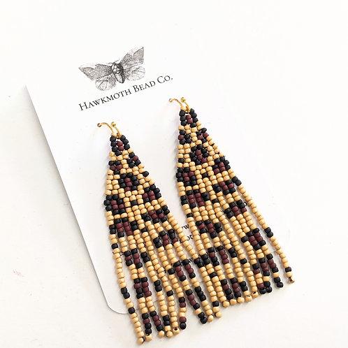 Hawkmoth Bead Co. - Beaded Leopard Earrings