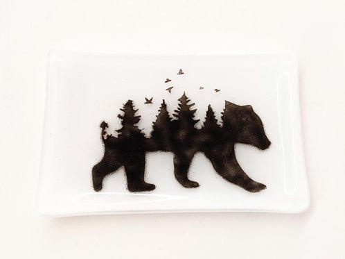 Sheryl Blois Glass - Nature Bear Treasure Tray
