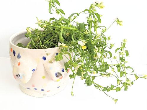 Sheramic - Small Confetti Lady Pot
