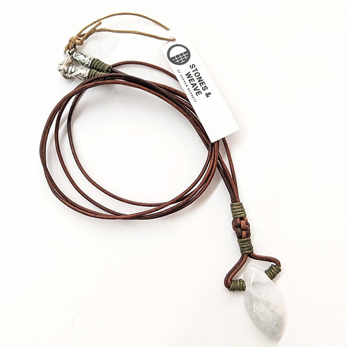 Stones & Weave - Moonstone Necklace