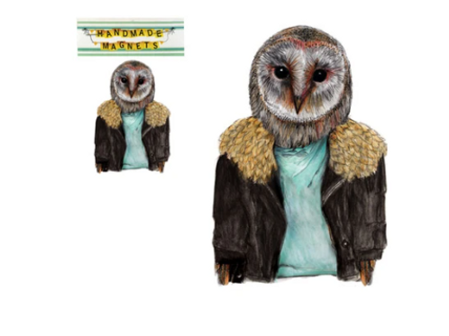Andrea Hooge - Barn Owl Magnet