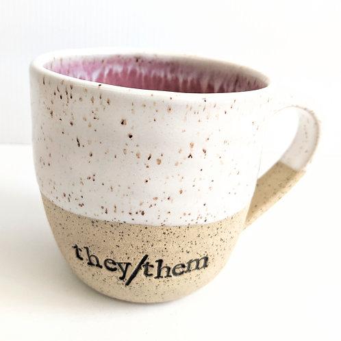 Radical Wondering - Large They/Them Pronouns Mug