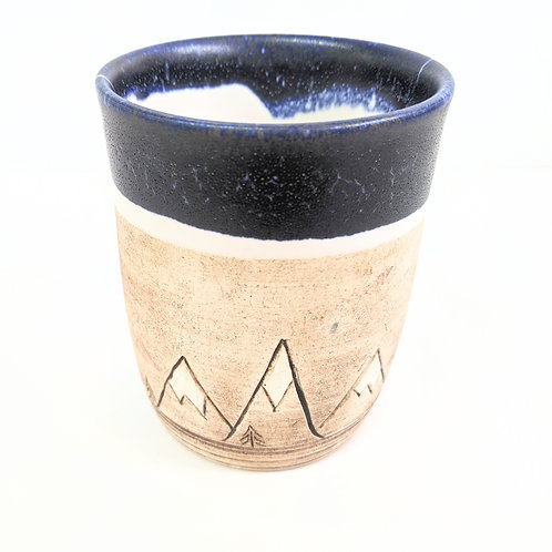 Restless Winds Pottery - Navy Mountains Tumbler
