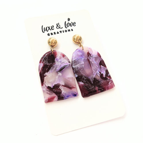 Luxe & Love Creations - Purple Swirl Earrings