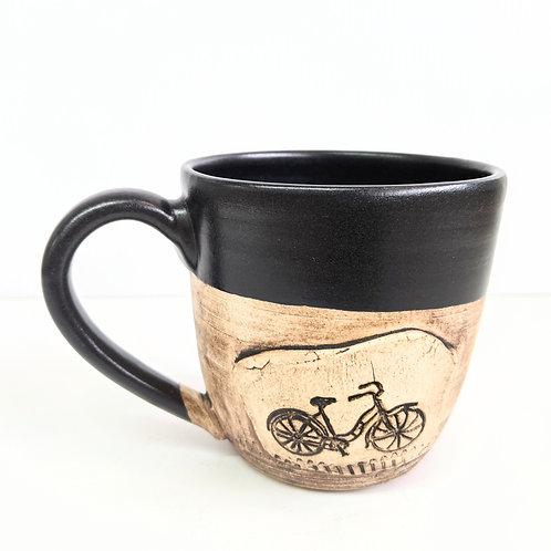 Restless Winds - Black Bicycle Mug