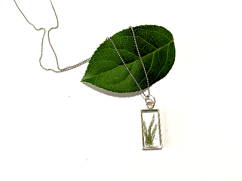 Flora and Forest - Dainty Silver Fern Necklace
