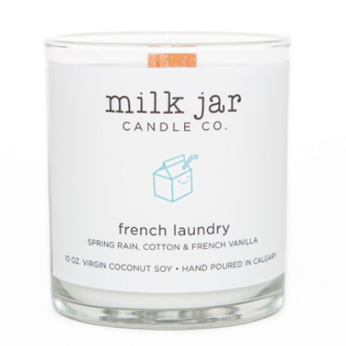 Milk Jar Candle Co. - French Laundry Candle