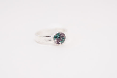 Flora and Forest -Floral Ring (Teal & Purple) - Size 7
