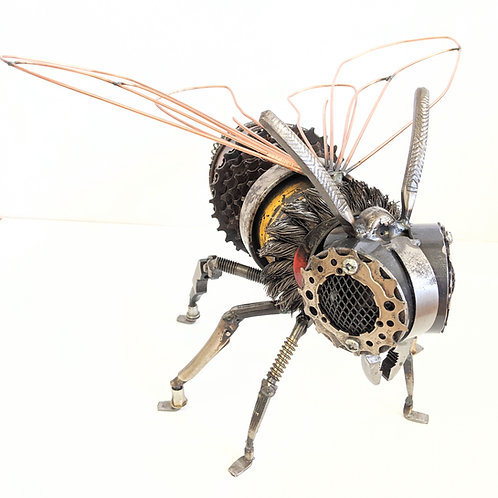Wingnut Whimsy - Metal Bee Sculpture