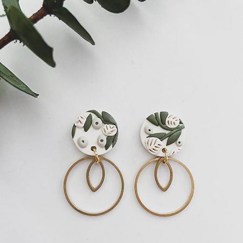 Ember Autumn Co. - Clay & Brass Earrings