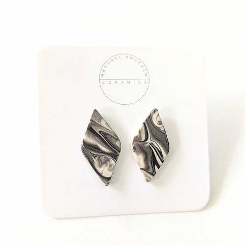 Rachael Kroeker Ceramics - Marbled Diamond Earrings