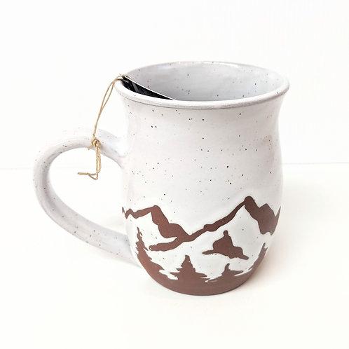 Prairie Willow Pottery - White Mountains Mug