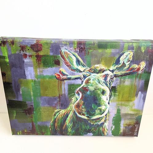 Brandy Wyatt - 'Frank' the Moose Limited Edition Canvas Print