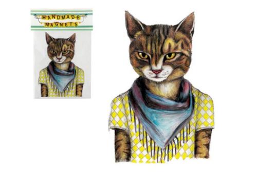 Andrea Hooge - Hipster Cat Magnet