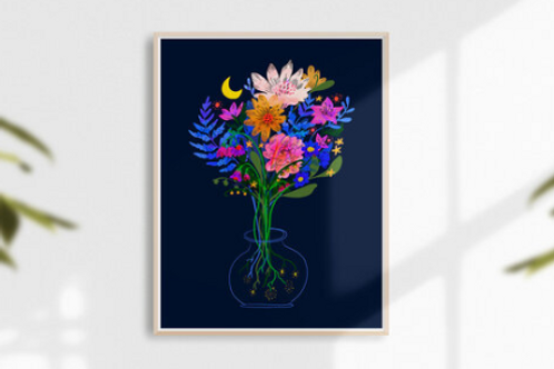 Sarah Clement - Magic Vase Print