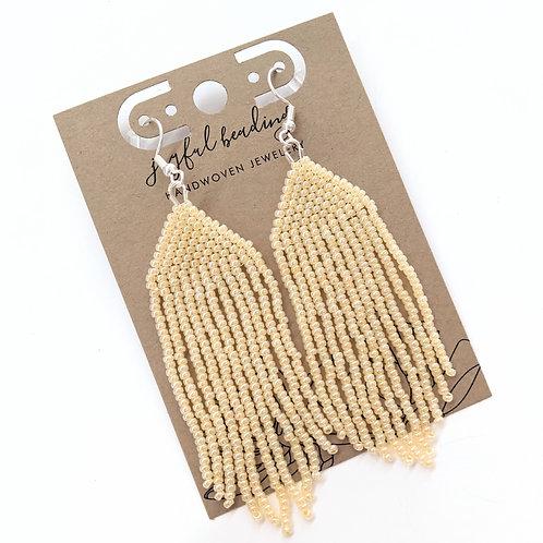Joyful Beading - Beaded Champagne Earrings