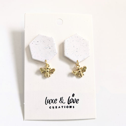 Luxe & Love Creations - Dangly Bee Earrings