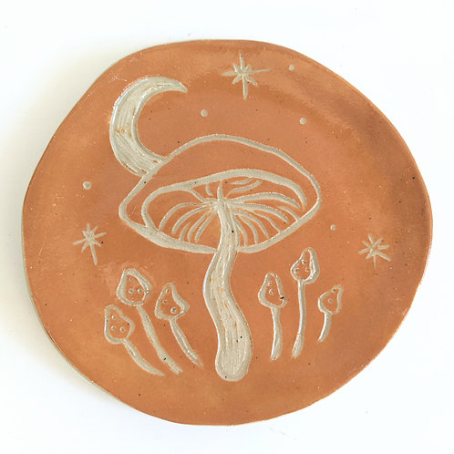 Sarah Anne Faith - Mini Mustard Mushroom Plate