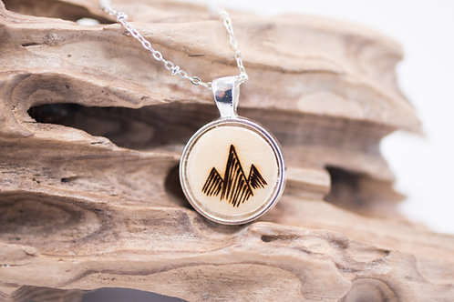 Tiny Timber Designs - Wooden Mountain Pendant